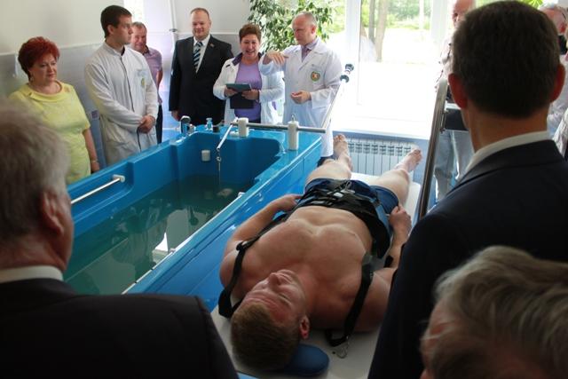 Открытие водолечебницы в Запрудненской участковой больнице